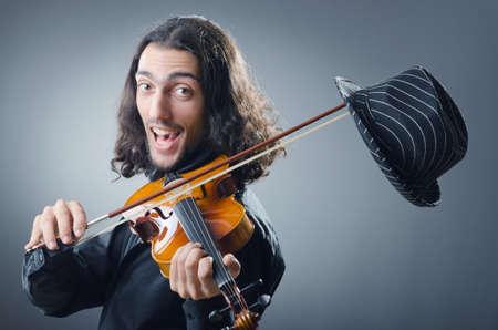 virtuoso: Fiddler playing the violin