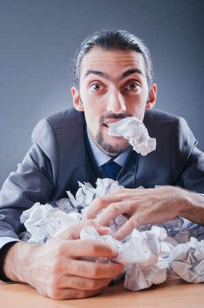 Businessman throwing paper away Stock Photo - 11622508