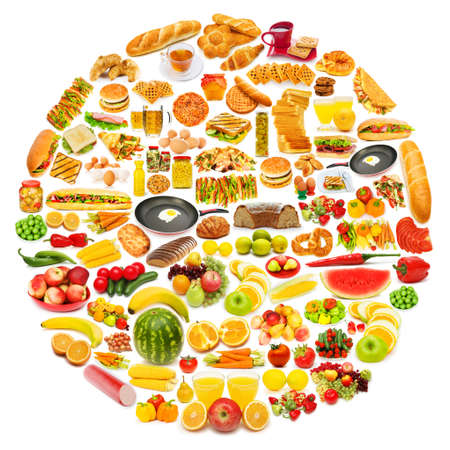 Circle with lots of food items Stock Photo - 11571858
