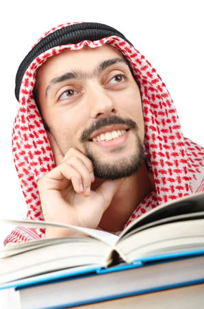 Education concept with young arab Stock Photo - 12123283