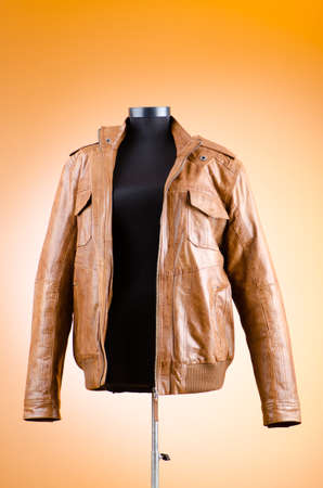 Brown leather jacket in fashion concept Stock Photo - 12108885