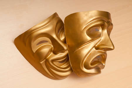 Masks with the theatre concept Stock Photo - 12109064