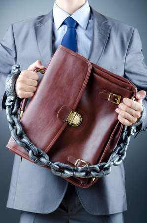 Arrested businessman in crime concept Stock Photo - 12109763