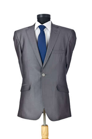 Male suit isolated on the white photo
