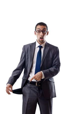 empty pocket: Businessman with empty pockets Stock Photo