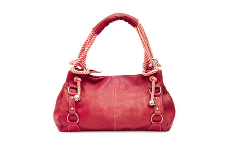 clutch: Elegant woman bag on white