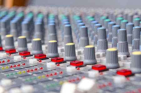 Close up of sound adjusting buttons Stock Photo - 12109546