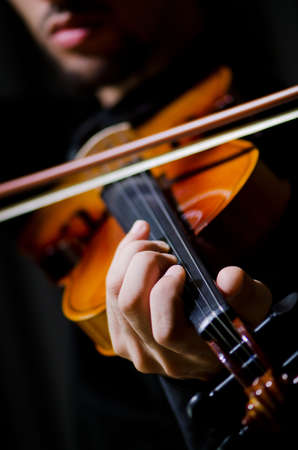 solo violinist: Young violin player playing