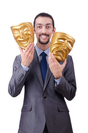 Businessman with mask concealing his identity Stock Photo - 12130705