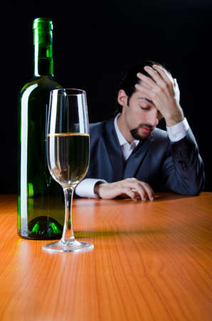 alcohol abuse: Man suffering from alcohol abuse Stock Photo