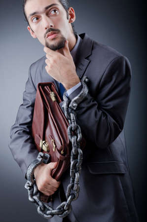 Arrested businessman in studio shooting Stock Photo - 12130770