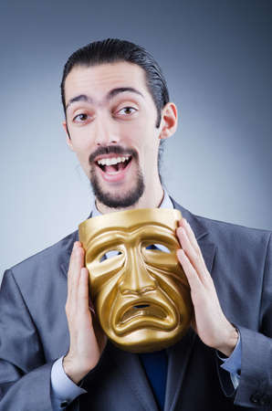 Businessman with mask concealing his identity Stock Photo - 12130760