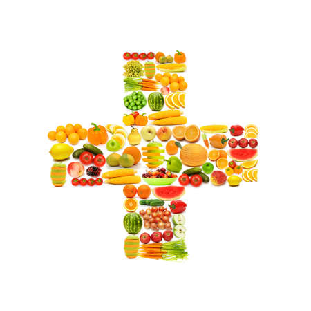 Alphabet made of many fruits and vegetables Stock Photo - 12226031