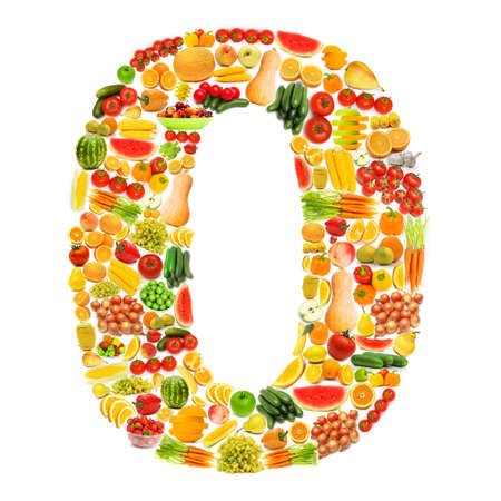 Alphabet made of many fruits and vegetables Stock Photo - 12226180