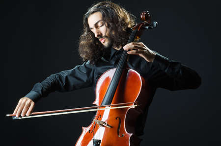 Man playing the cello photo