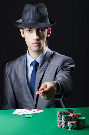 Man playing in the casino Stock Photo - 12283720