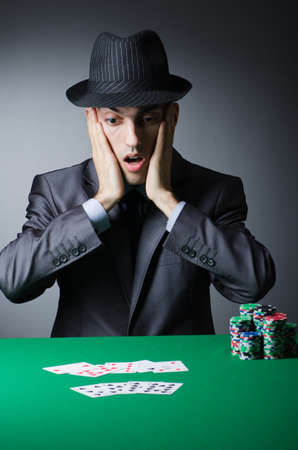 Man playing in the casino Stock Photo - 12283709