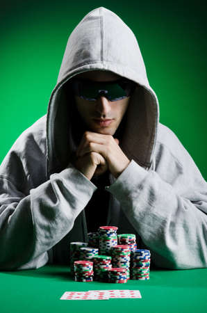 Man playing in the casino Stock Photo - 12283740