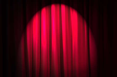 Brightly lit curtains in theatre concept Stock Photo - 12225984