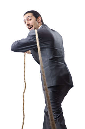 Businessman in the tug of war concept Stock Photo - 12283672