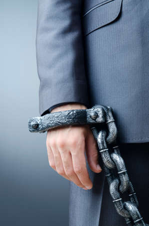 Arrested businessman in crime concept Stock Photo - 12228527