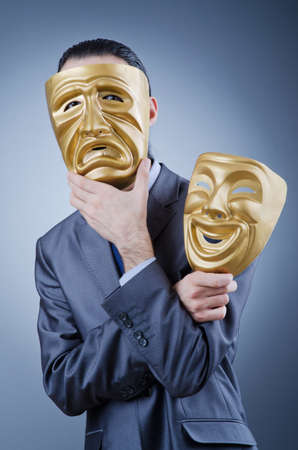 Businessman with mask concealing his identity Stock Photo - 12227395
