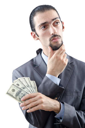 Businessman with american dollars photo