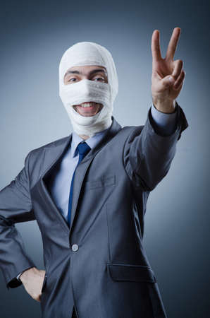 Man covered in medical bandages Stock Photo - 12283732