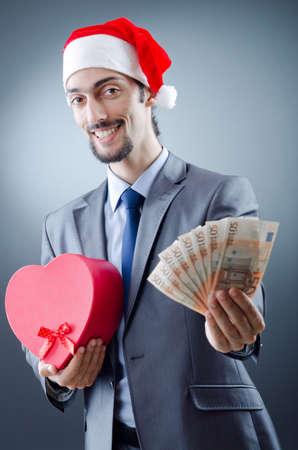 Santa with euro banknotes photo