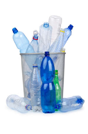 recycle paper: Plastic bottles in recycling concept Stock Photo