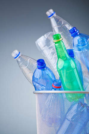 Concept of recycling with plastic bottles Stock Photo - 12227396