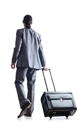 Businessman on his travel days photo