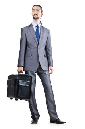 Businessman on his travel days photo