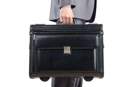 Businessman with suitcase travelling Stock Photo - 12226138