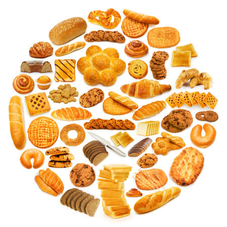 Circle with lots of food items Stock Photo - 12228487