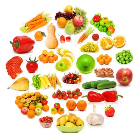 food pyramid: Circle with lots of food items Stock Photo