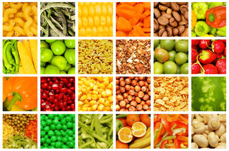 Set of various fruit and vegetables photo