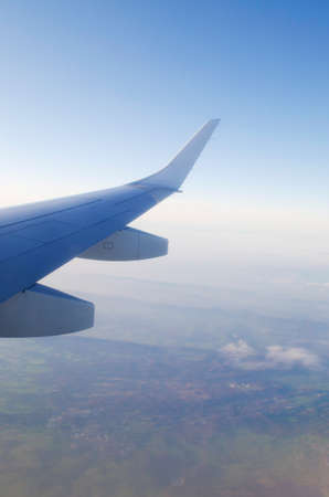 Wing of airplane from window Stock Photo - 12225842