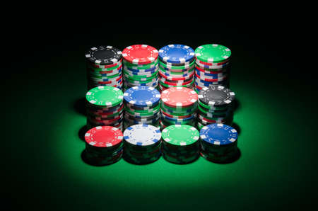 Many cards and casino chips photo