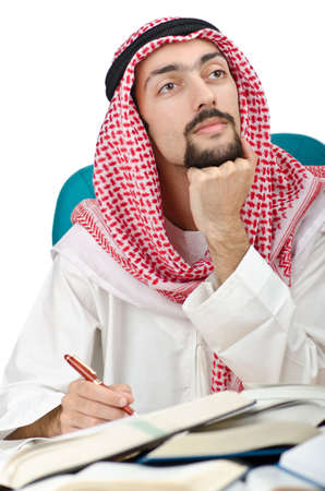 Education concept with young arab photo
