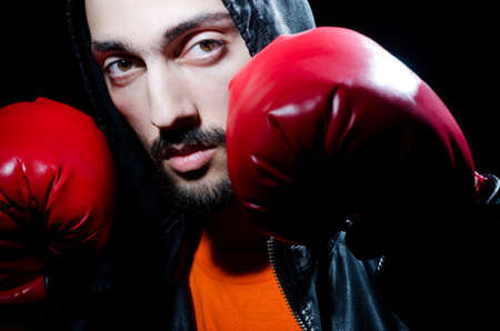 Man with boxing gloves photo