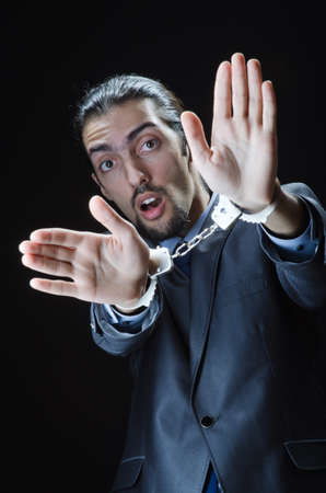 Businessman jailed for his crimes Stock Photo - 12283827