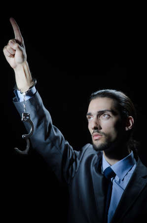 Businessman jailed for his crimes Stock Photo - 12283784