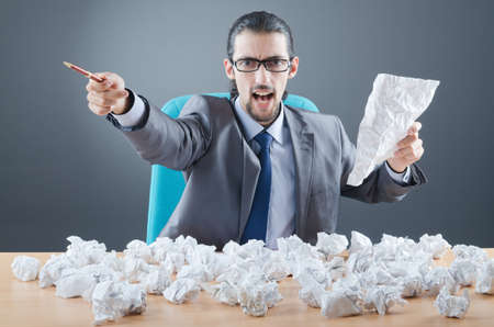 Businessman throwing paper away Stock Photo - 12283838