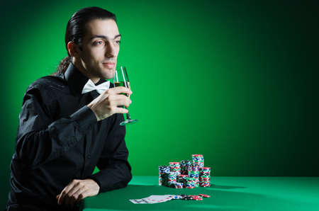 Man playing in the casino Stock Photo - 12283789