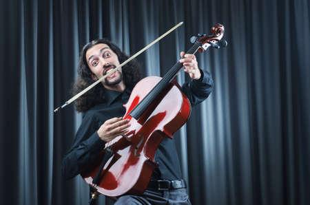 Man playing the cello Stock Photo - 12283927