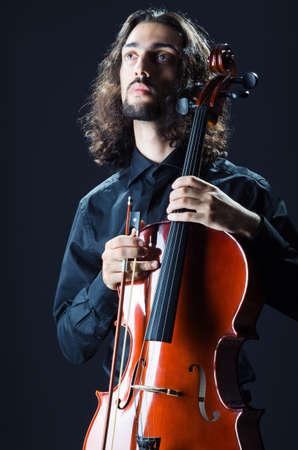 Man playing the cello Stock Photo - 12283932