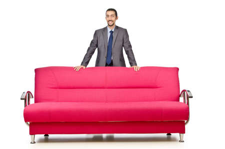 Man sitting in the sofa Stock Photo - 12283909