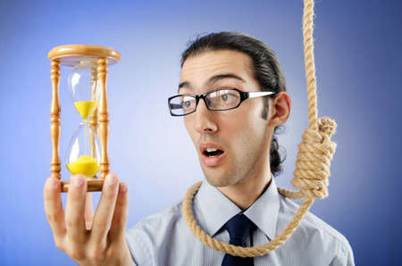 Man with noose around his neck photo