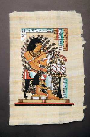 scribes: Egyptian history concept with papyrus Editorial